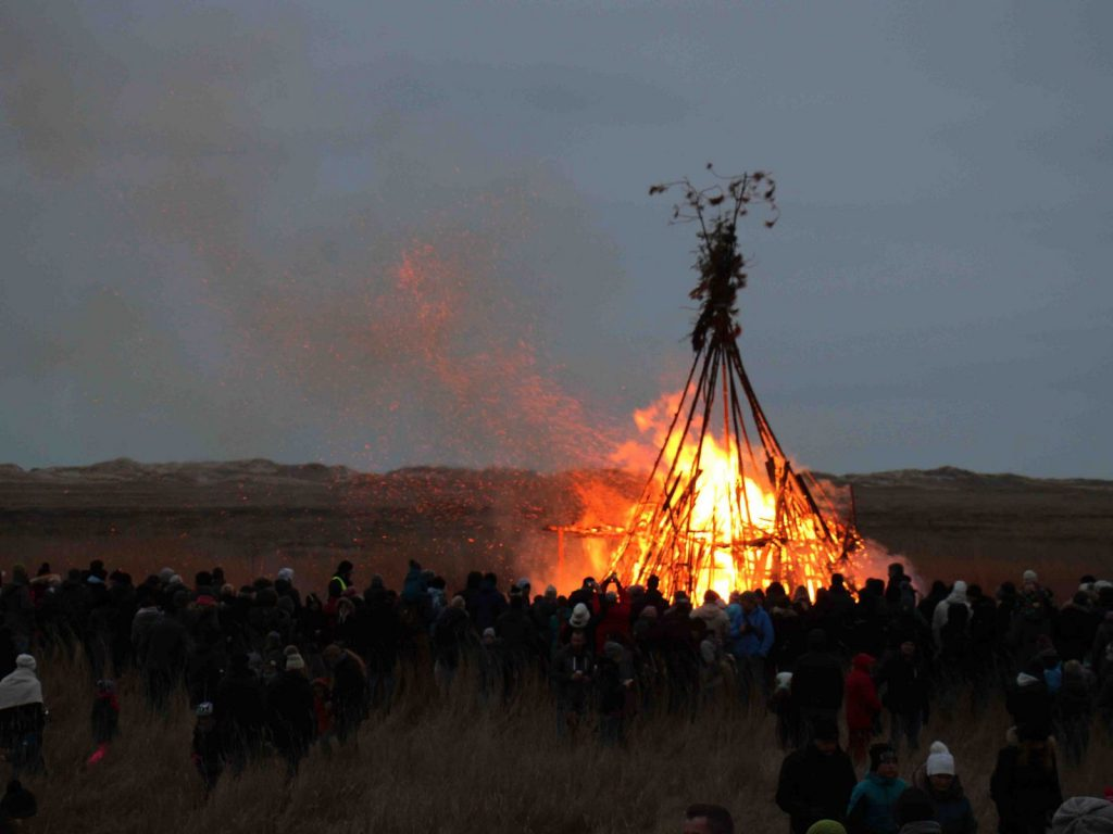 Osterfeuer in St. Peter-Ording